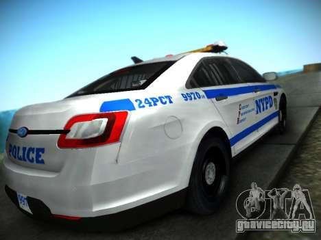 Ford Taurus NYPD 2011 для GTA San Andreas вид слева