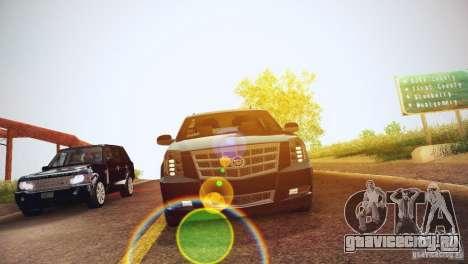 Cadillac Escalade ESV 2012 для GTA San Andreas вид изнутри