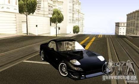 Mazda RX-7 C-West для GTA San Andreas вид справа