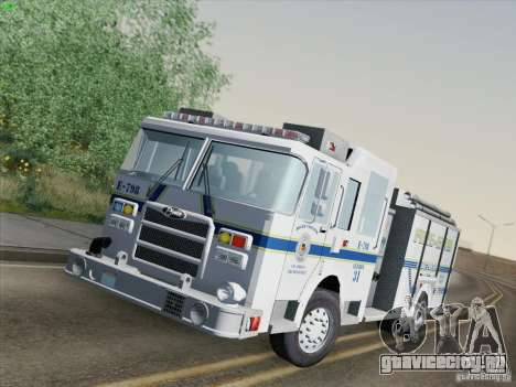 Pierce Pumpers. B.C.F.D. FIRE-EMS для GTA San Andreas вид сзади слева