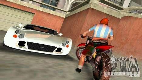 TVR Cerbera Speed 12 для GTA Vice City вид сзади