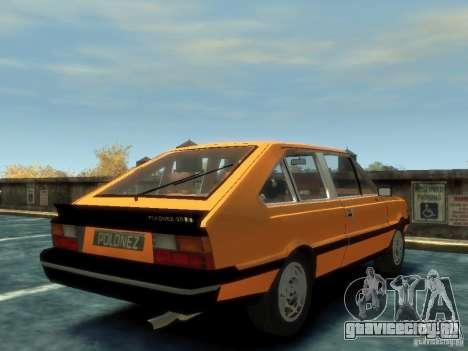 FSO Polonez 2.0X Coupe для GTA 4 вид сзади слева