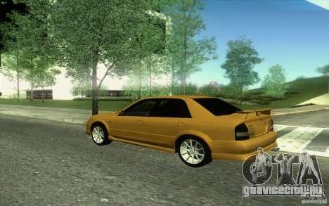 Mazda Speed Familia 2001 V1.0 для GTA San Andreas вид изнутри