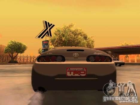 Toyota Supra GTS для GTA San Andreas вид сзади слева