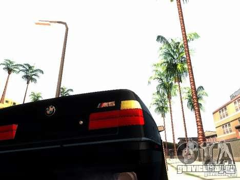 BMW 535i E34 для GTA San Andreas вид изнутри