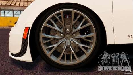Bugatti Veyron 16.4 Super Sport 2011 [EPM] для GTA 4 вид сбоку