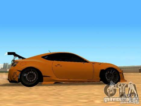 Toyota FT86 Rocket Bunny V2 для GTA San Andreas вид сзади