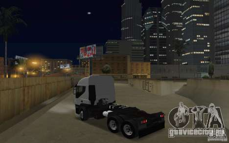 Iveco Stralis Double Trailers для GTA San Andreas вид сзади слева