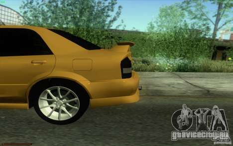 Mazda Speed Familia 2001 V1.0 для GTA San Andreas вид сзади