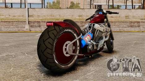 Dragbike Street Racer для GTA 4 вид сзади слева