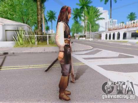 Джек Воробей для GTA San Andreas второй скриншот
