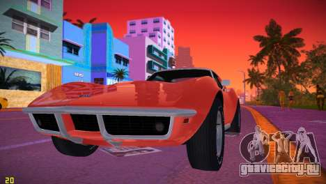 Chevrolet Corvette (C3) Stingray T-Top 1969 для GTA Vice City вид слева