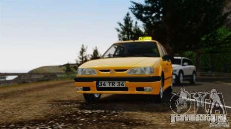 Renault 19 Такси для GTA 4 вид сзади