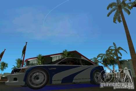 BMW M3 GTR NFSMW для GTA Vice City вид слева