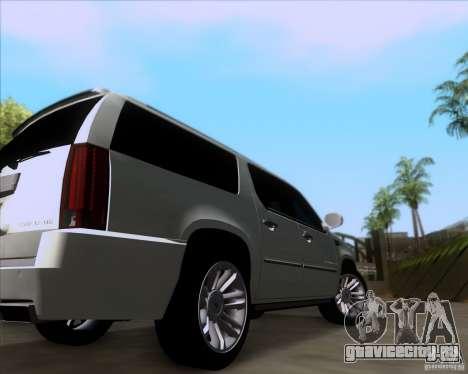 Cadillac Escalade ESV Platinum 2013 для GTA San Andreas вид сзади