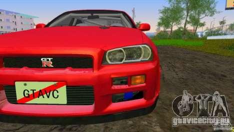 Nissan Skyline GTR R34 для GTA Vice City вид слева