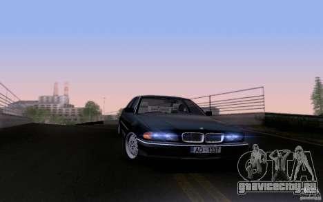BMW 730i E38 для GTA San Andreas вид снизу