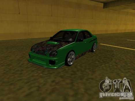 Subaru Impreza WRX для GTA San Andreas салон