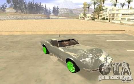 Chevrolet Corvette Stingray Monster Energy для GTA San Andreas вид сзади слева