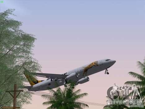 Boeing 737-800 Tiger Airways для GTA San Andreas салон