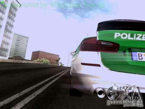 BMW M5 Touring Polizei для GTA San Andreas вид сбоку