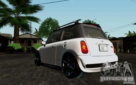 Mini Cooper S Tuned для GTA San Andreas вид сзади