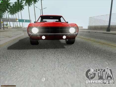 Chevrolet Camaro 1969 для GTA San Andreas салон