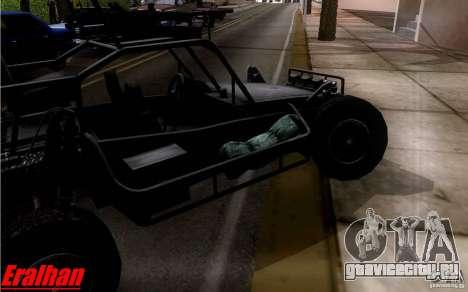 Desert Patrol Vehicle для GTA San Andreas вид сзади