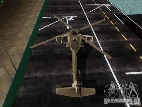 S-70 Battlehawk для GTA San Andreas вид сзади слева