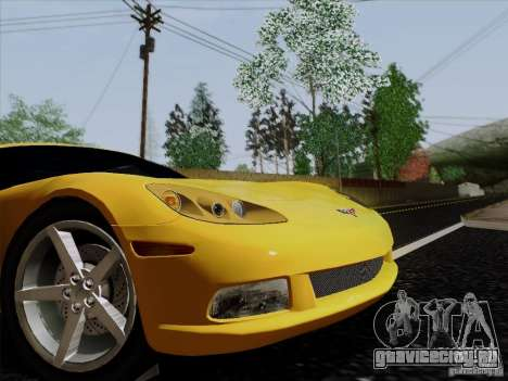 Chevrolet Corvette Z51 для GTA San Andreas вид сзади слева