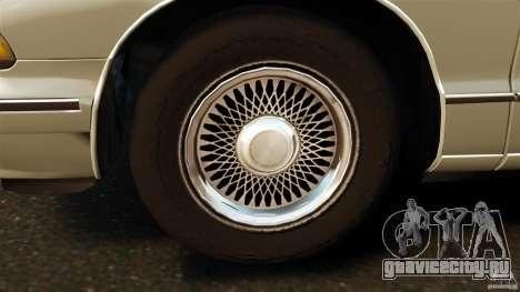 Chevrolet Caprice 1991 для GTA 4 вид изнутри