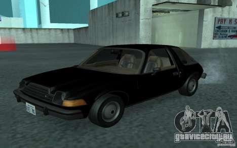 AMC Pacer для GTA San Andreas вид изнутри
