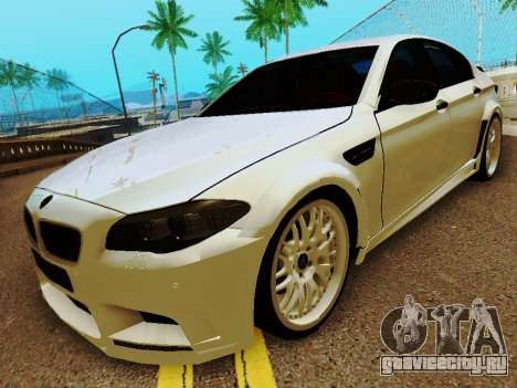 BMW M5 F10 HAMANN для GTA San Andreas вид слева