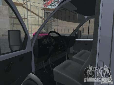 ГАЗель 2705 Грузопасажирская для GTA San Andreas вид изнутри