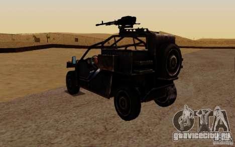 VDV Buggy из Battlefield 3 для GTA San Andreas вид сзади слева
