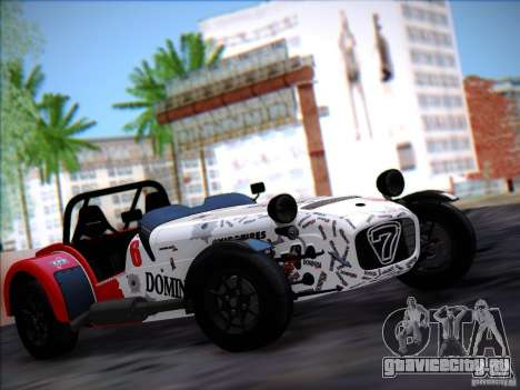 Caterham Superlight R500 для GTA San Andreas вид сзади слева