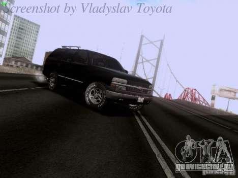 Chevrolet Tahoe 2003 SWAT для GTA San Andreas вид слева