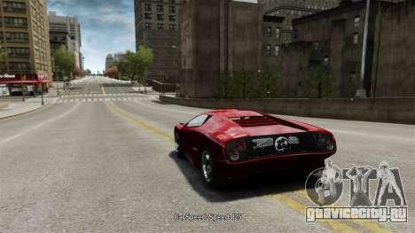 Скорость автомобиля для GTA 4 третий скриншот