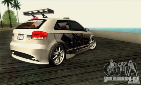 Audi A3 Tunable для GTA San Andreas вид справа