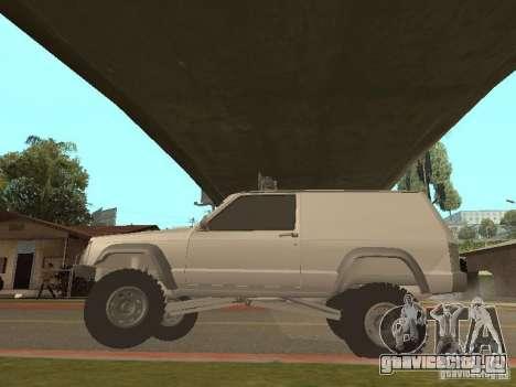 Jeep Cherokee 1984 v.2 для GTA San Andreas вид сзади
