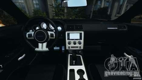 Dodge Challenger SRT8 392 2012 [EPM] для GTA 4 вид сзади