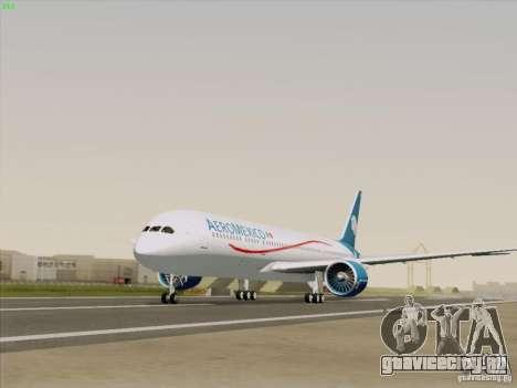 Boeing 787-8 Dreamliner AeroMexico для GTA San Andreas вид справа