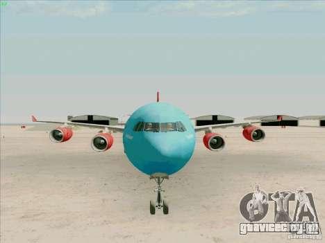 Airbus A-340-600 Plummet для GTA San Andreas вид сзади
