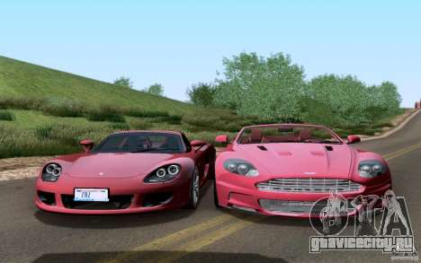 Porsche Carrera GT для GTA San Andreas вид сверху