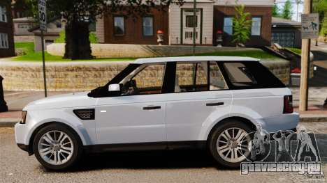 Land Rover Range Rover Sport Supercharged 2010 для GTA 4 вид слева