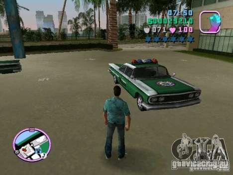 Voodoo Police для GTA Vice City вид сзади слева
