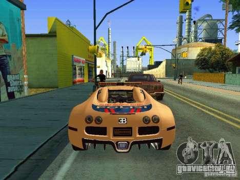 Bugatti Veyron Indonesian Police для GTA San Andreas вид справа