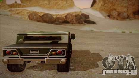HD Patriot для GTA San Andreas вид изнутри
