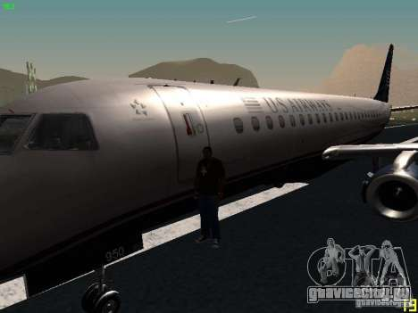 Embraer ERJ 190 USAirways для GTA San Andreas вид сбоку