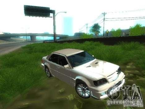 Mercedes-Benz W124 BRABUS для GTA San Andreas вид изнутри
